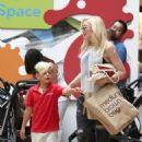 Gwen Stefani takes her son Zuma on a shopping trip to the mall at Sherman Oaks