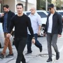 Joe & Kevin Jonas meet some friends for lunch in Los Angeles, California on January 9, 2015 - 454 x 344