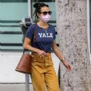 Jordana Brewster – Wears a Yale T-shirt while out shopping in Brentwood - 454 x 681