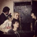 Jerry Hall and Mick Jagger With Ron Wood