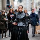Olivia Culpo –   Ermanno Scervino – Street Style - Milan Fashion Week 2019