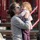 Amanda Peet Enjoys A Day At Cold Water Park With Her Daugher, 2008-09-12