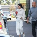 Selena Gomez in White Outfit – Out in Los Angeles