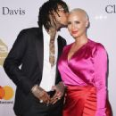 Amber Rose and Wiz Khalifa attend Pre-GRAMMY Gala and Salute to Industry Icons Honoring Debra Lee at The Beverly Hilton in Los Angeles, California - February 11, 2017 - 438 x 600