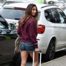 Leilani Dowding in Denim Shorts – Out in Cheshire