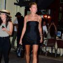 Hailey Baldwin in Little Black Dress – Night out in New York - 454 x 648