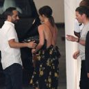 Victoria Beckham in Floral Print Dress – Out in Miami