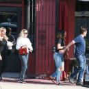 Selena Gomez – out with a friends for lunch at Osteria Mamma in LA