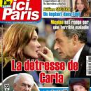 Nicolas Sarkozy, Carla Bruni - Ici Paris Magazine Cover [France] (29 October 2014)