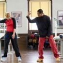 Megan (Shoshana Bush, left) gets a demonstration of Thomas' (Damon Wayans, Jr., right) dancing moves in the comic spoof 'Dance Flick.' Photo Credit: Glen Wilson. Copyright ©2009 by PARAMOUNT PICTURES CORPORATION. All Rights Reserved.