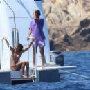 Willow Smith in Bikini on the yacht in Maddalena Archipelago - 454 x 303