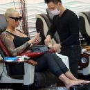 Amber Rose Running Errands in Studio City, California - December 29, 2015