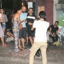 Bergüzar Korel & Halit Ergenç out and about in Cihangir, Istanbul (August 27, 2015)