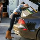 Vanessa Hudgens in Tights at a local vintage store in Atwater Village - 454 x 303