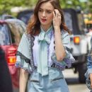 Lily Collins out and about in New York City - 454 x 1147
