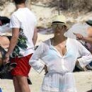 Eva Longoria in a Bikini – Spain, 7/21/2016