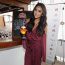 Actress Shay Mitchell toasted bon voyage to a summer of hosting beautifully with Stella Artois while sailing into the New York City sunset on September 21, 2015 - 399 x 600
