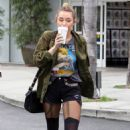 Miley Cyrus enjoyed a coffee break, February 7, while out in Hollywood