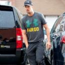 Josh Duhamel and son Axl are seen after breakfast January 10,2015