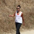 Lea Michele in Tights hike in Los Angeles - 454 x 679