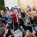 Brian May leads an anti-fox hunting rally for PETA on July 14, 2015 in London, England. - 454 x 291