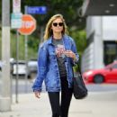 Emily VanCamp in Tights out in Los Angeles - 454 x 517