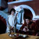 Denholm Elliott, Cassie Stuart and Patsy Byrne in Stealing Heaven (1988)