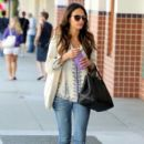Jordana Brewster flashes a smile as she goes shopping in Beverly Hills