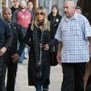 Jennifer Aniston is seen at 'Jimmy Kimmel Live' on December 8, 2016