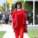 Kat Von D in Red Out in Los Angeles - 454 x 652