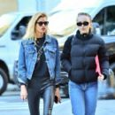 Lily Rose Depp and Stella Maxwell – Out and about in New York - 454 x 407