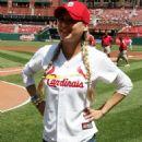 Anna Kournikova - First Pitch, Dodgers Vs Caridnals, Busch Stadium, St. Louis, MO - 17.07.2010