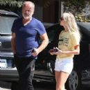 Kelsey Grammer and his wife stop by the Andy LeCompte Salon in West Hollywood, California on September 29, 2015 - 424 x 600