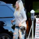 Tori Spelling in Ripped Jeans – Out in Beverly Hills - 454 x 681