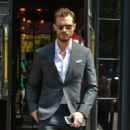 Jamie Dornan spotted leaving the Bowery Hotel in downtown Manhattan en route to record an appearance on The Late Show with Steven Colbert on August 4, 2016 - 454 x 568