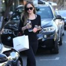 Dakota Johnson at Alfred Coffee and Violet Grey in West Hollywood