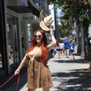 Phoebe Price – Wears a Cowboy Hat in Beverly Hills - 454 x 681