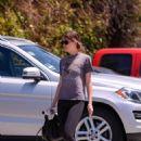 Dakota Johnson in Spandex – Arrives at her yoga studio in Los Angeles