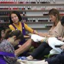 Lori Loughlin at nails salon in Beverly Hills - 454 x 303