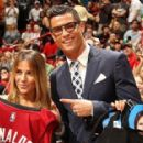 Cristiano Ronaldo receives warm Miami Heat welcome as he's greeted by British NBA star Luol Deng and given No 7 jersey