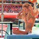 Nicky Whelan in Bikini on the pool in Las Vegas - 454 x 303