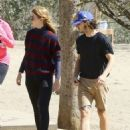 Shia LaBeouf and his new wife, Mia Goth, spend the day at the dog park in Studio City, California on October 15, 2016 - 454 x 586