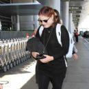 Meghan Trainor is seen at LAX