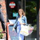 Helena Christensen out in New York