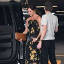 Victoria Beckham in Floral Print Dress – Out in Miami - 454 x 636