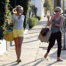 Cameron Diaz and Portia de Rossi leaving the Salon Benjamin in West Hollywood (August 9)