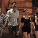 Scarlett Johansson and boyfriend Nate Naylor out at Le Schmuck restaurant in Paris, France (August 19)