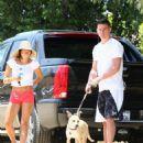 Jenna Dewan and Channing Tatum walk their dogs in LA - May 24 - 2009