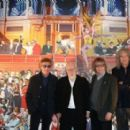 Roger Daltry, Sir Peter Blake, Brian May and Bill Wyman attend the unveiling of Sir Peter Blake's new mural at the Royal Albert Hall on April 29, 2014 in London, England