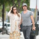 Nikki Reed with Ian Somerhalder out in Los Angeles - 454 x 688